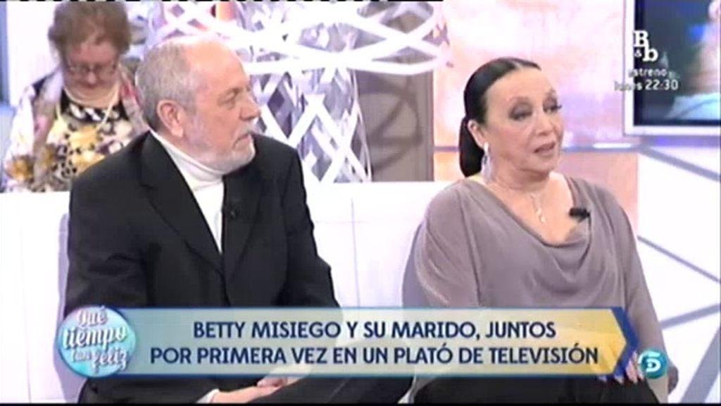 Betty Missiego y su marido Fernando, 42 años de vida en común