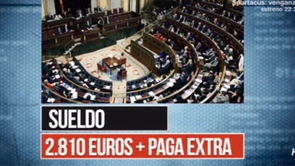 Los gastos de los 350 diputados del Congreso de los Diputados