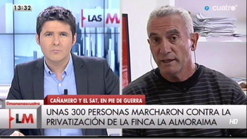 """Cañamero: """"En Almoraima quieren hacer un hotel de lujo que no dará ningún empleo"""""""