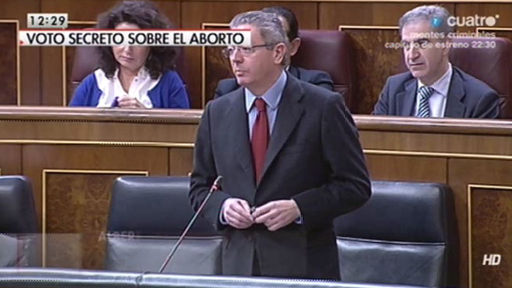 """Alberto Ruiz Gallardón, al PSOE: """"Ustedes solo quieren dividir"""""""
