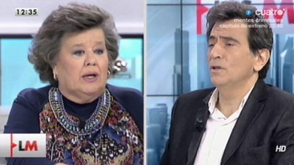 "Cristina Almeida, a Arcadi Espada: ""No respeto que llames estúpido al feminismo"""