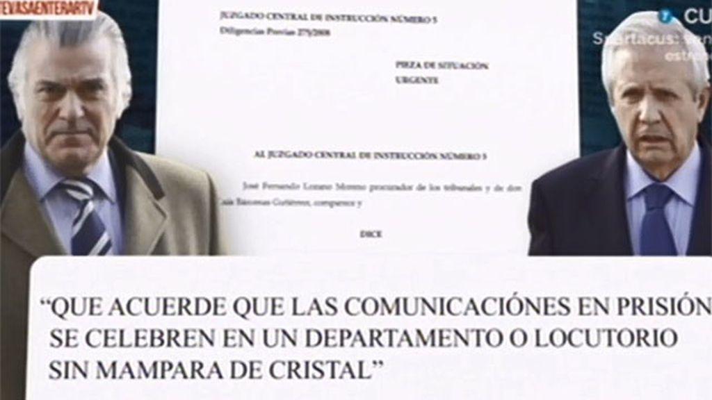 Luis Bárcenas solicita que el juez Ruz le visite en la cárcel