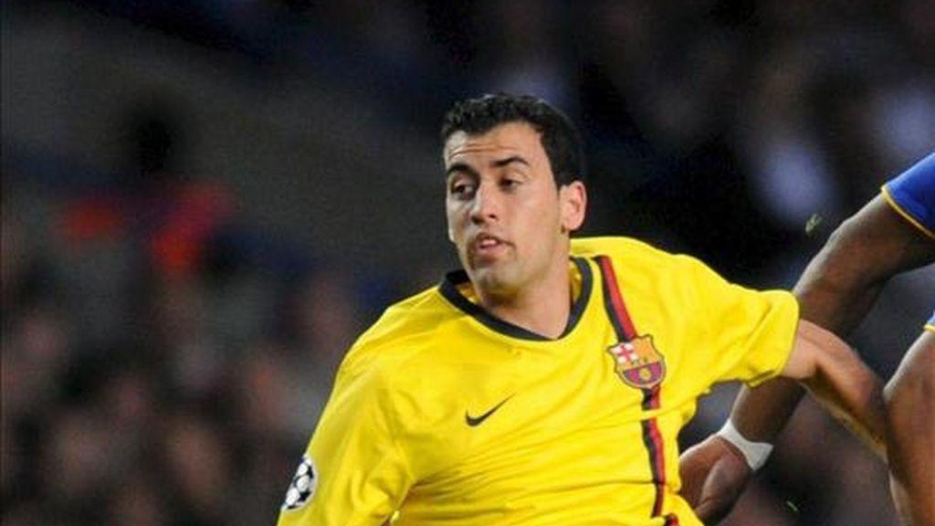 Sergio Busquets, centrocampista internacional del Barcelona. EFE/Archivo