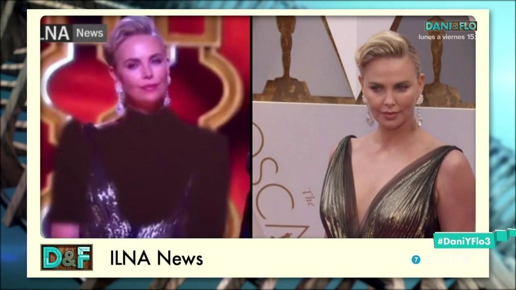 La televisión iraní le 'pinta' un jersey a Charlize Theron con Photoshop 👚✍️ 🤣