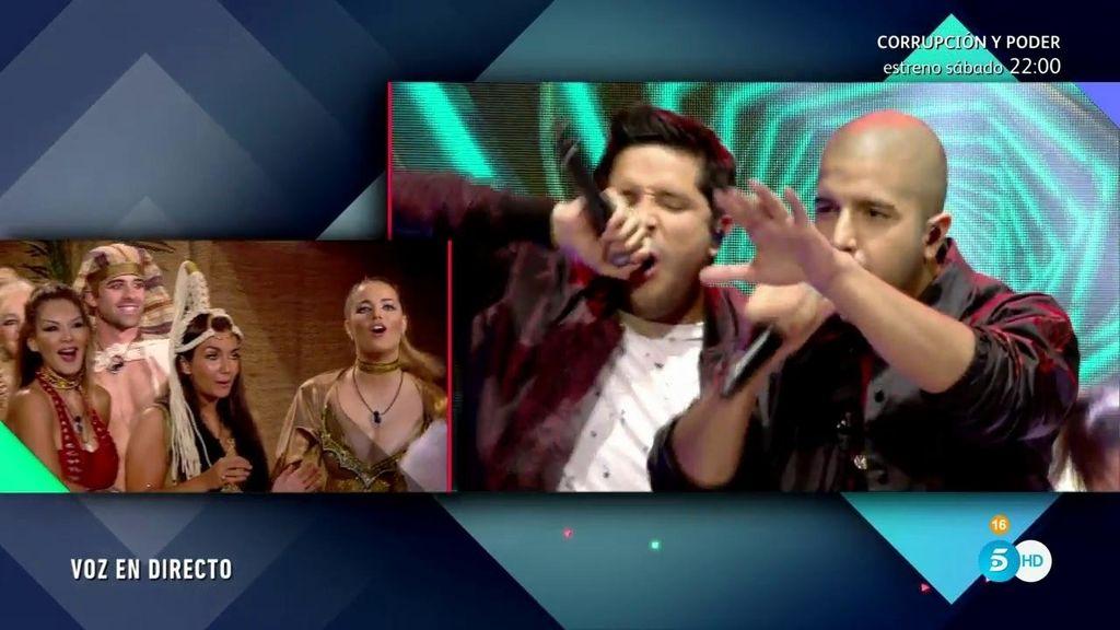 'Cali y El  Dandee' interpreta su éxito Lumbra en 'Gran Hermano VIP'