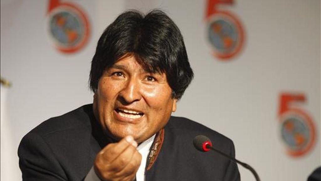 """""""Vimos una importante señal del presidente Obama que, después de décadas de intervencionismo político, declara que es absolutamente contrario y condena cualquier acción violenta"""", dijo Morales. EFE/Archivo"""