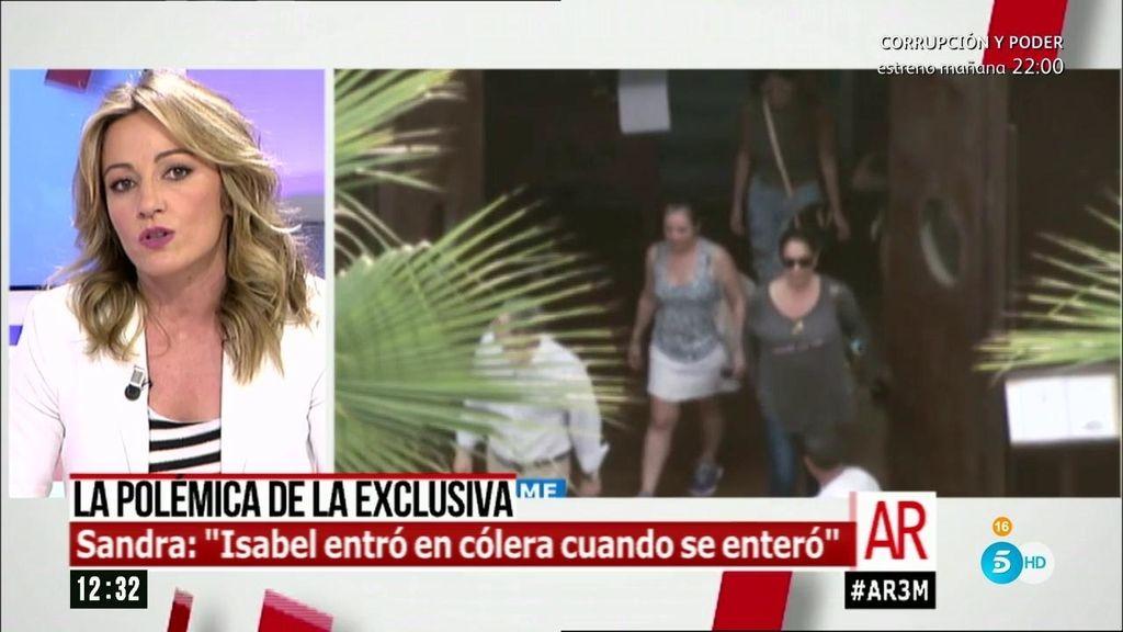 Sandra Aladro cuenta todos los detalles de la discusión entre Pantoja y Chabelita
