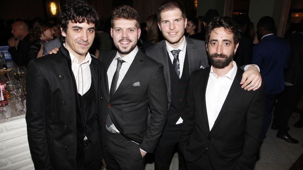"""El equipo de la película """"Blue rai"""": Santi Bayón, Pedro B. Abreu, Cristian Valencia y Carlos Franco"""