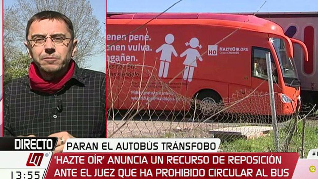 """Juan Carlos Monedero: """"Silenciando el autobús de 'Hazte Oír', corremos el riesgo de silenciarnos a nosotros mismos"""""""