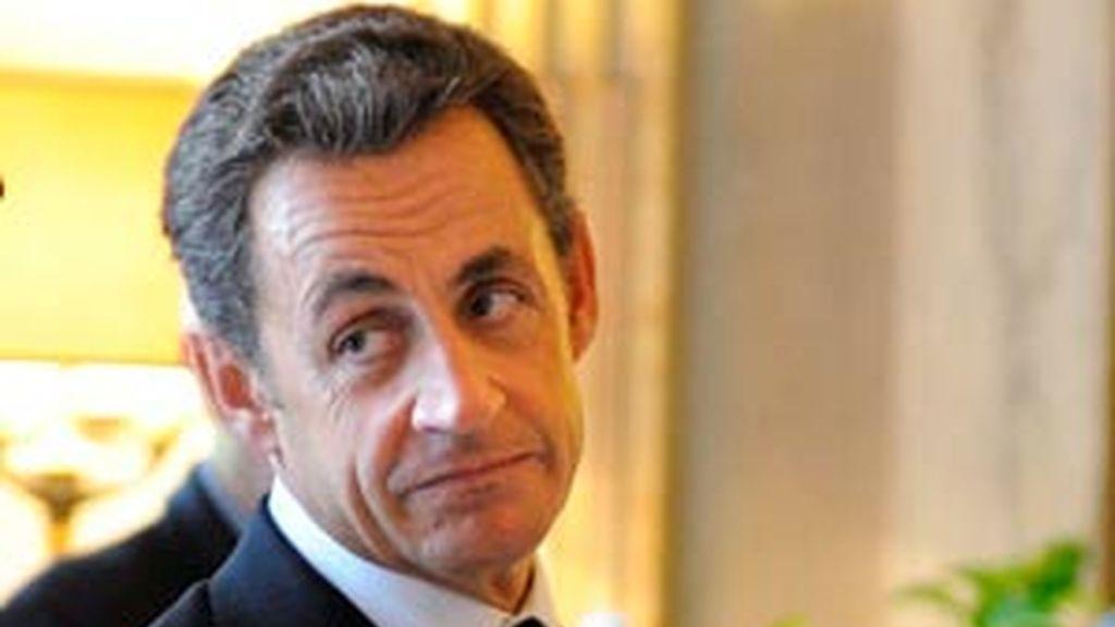 Nicoláas Sarkozy, en su última aparición pública, este viernes en el Vaticano. Foto. EFE