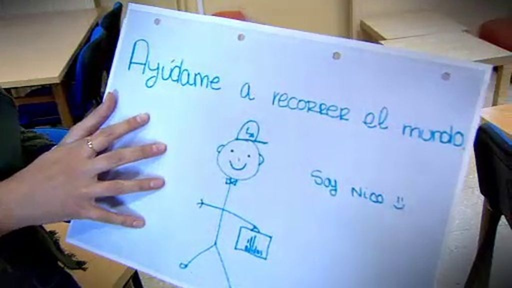 Nico, el dibujo de una clase de Torrejón de Ardoz que ha dado la vuelta al mundo