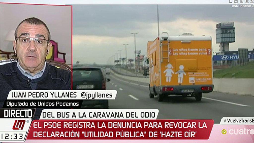 """Yllanes, del nuevo eslogan de 'Hazte Oír': """"Es una burla, demuestran que no respetan nada"""""""