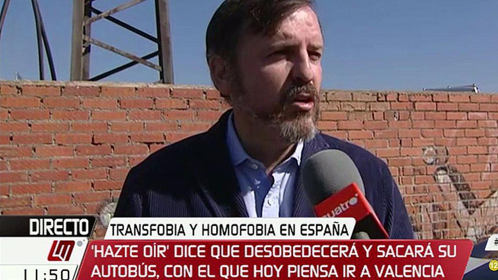 """'Hazte Oír', tras la paraliazación del autobús: """"Es un atentado contra el derecho a la libre circulación y a la libertad de expresión"""""""