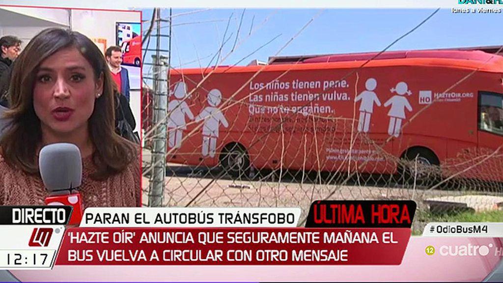 Hazte Oír cambiará el mensaje de su autobús y anuncian medidas legales