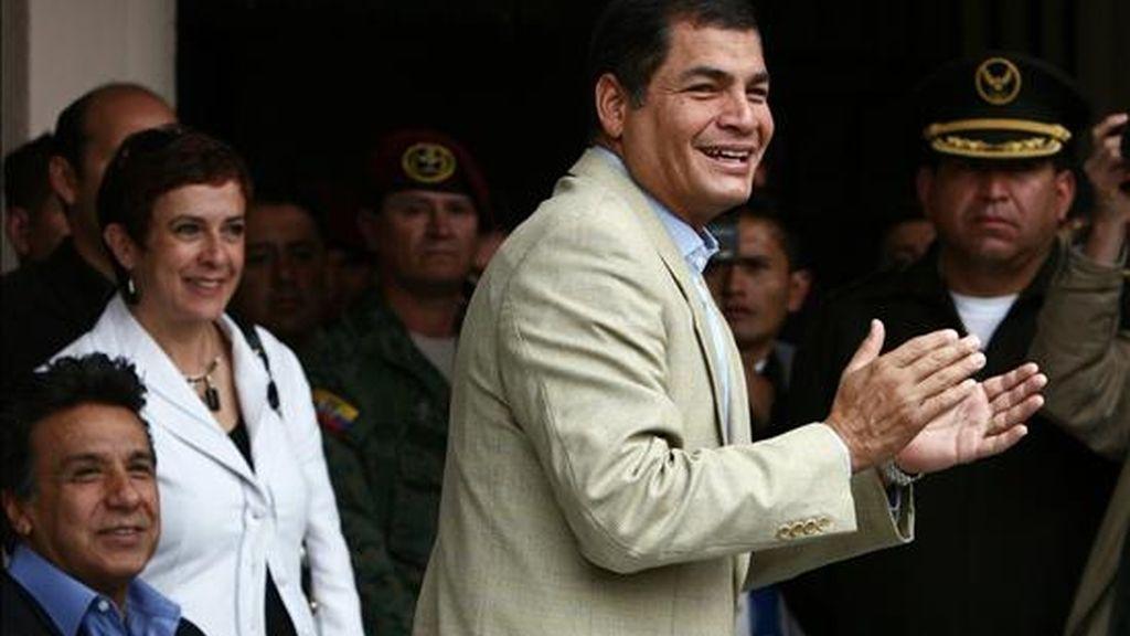 """""""El ordenador contienen correspondencia que detalla una cómoda relación (de las FARC) no solo con el presidente de Venezuela, Hugo Chávez, sino también con el presidente de Ecuador, Rafael Correa"""", asegura un diario. EFE/Archivo"""