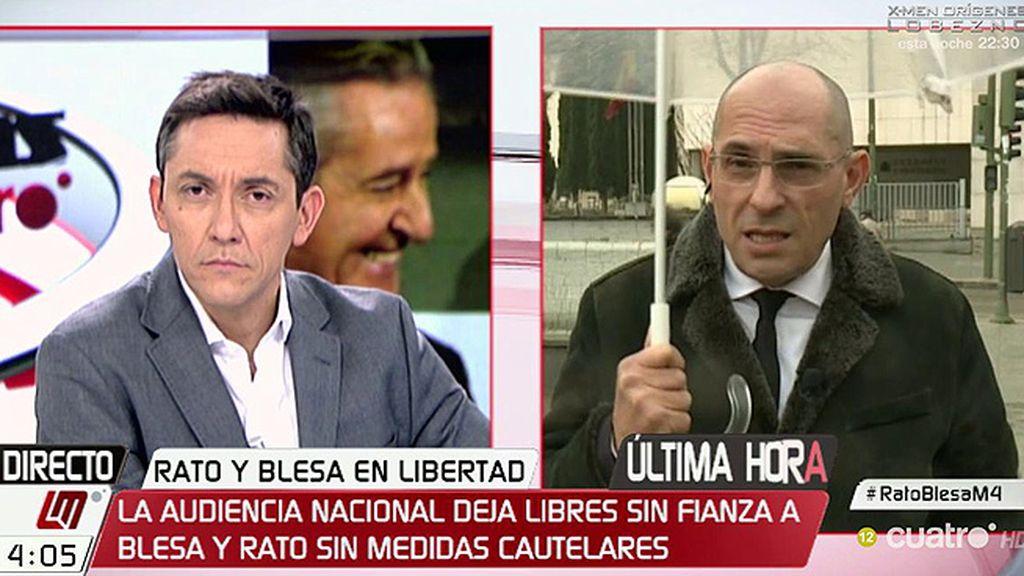 """Silva, tras la libertad sin fianza de Blesa y Rato: """"¿Nada? No puedo compartir el criterio"""""""
