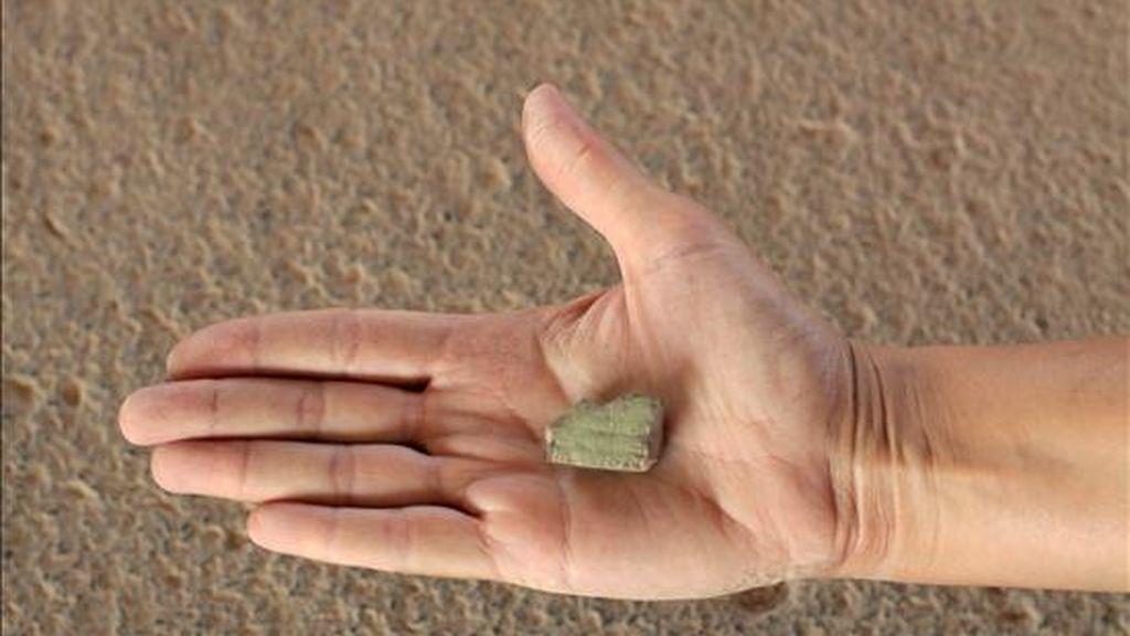 Fragmento de una tablilla cuneiforme con similitudes en su contenido y el momento de su escritura con el babilónico Código de Hammurabi, que un equipo de la Universidad Hebrea de Jerusalén ha descubierto en unas excavaciones en Tel Hazor (norte de Israel). EFE