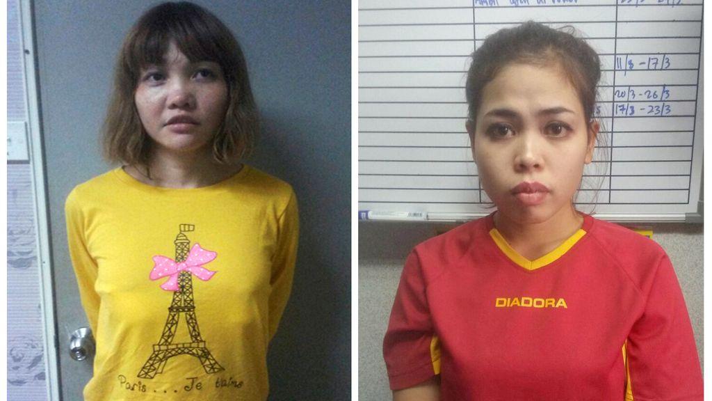 Las acusadas del asesinato de Kim Jong-nam