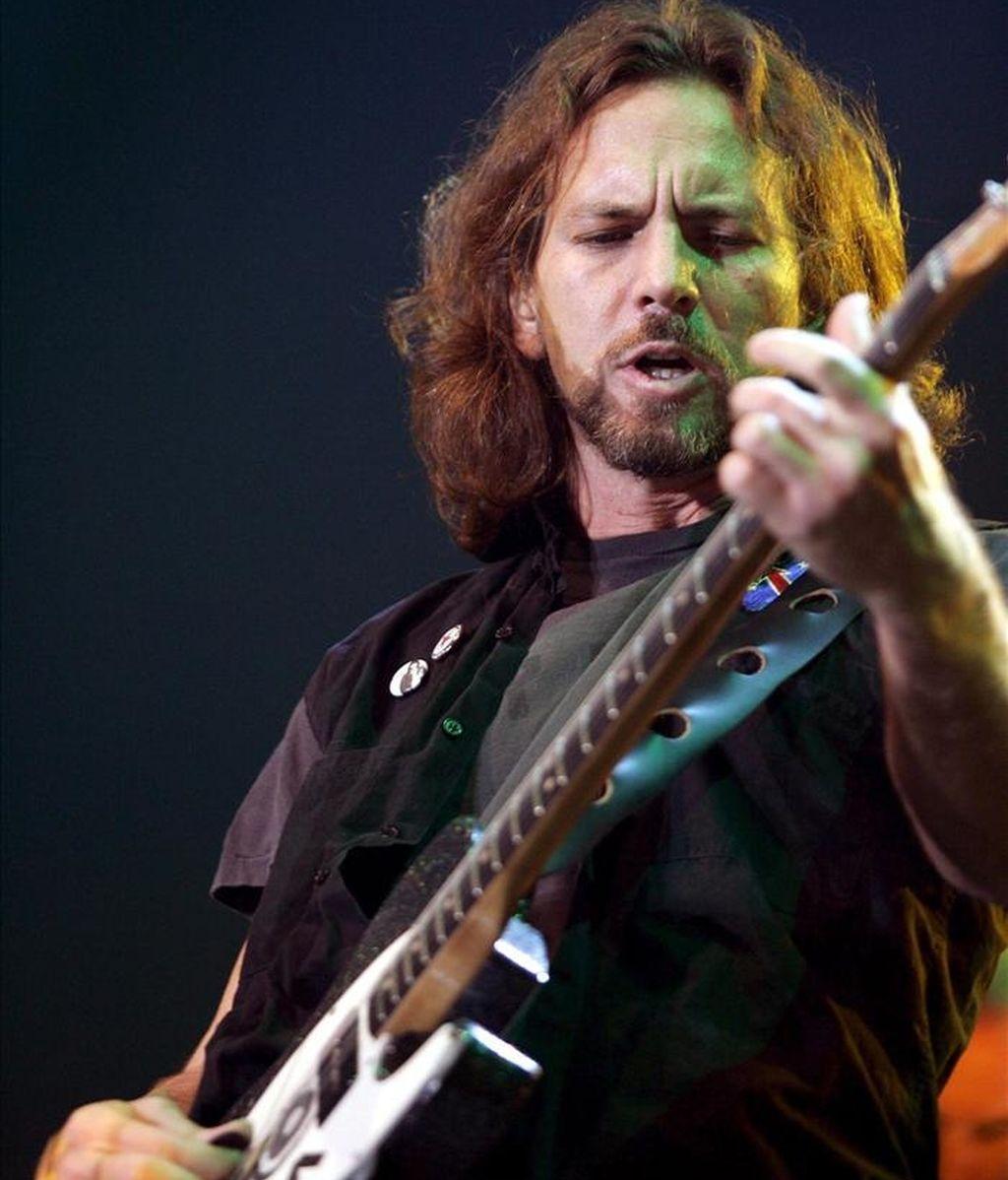 El cantante del grupo estadounidense Pearl Jam, Eddie Vedder. EFE/Archivo