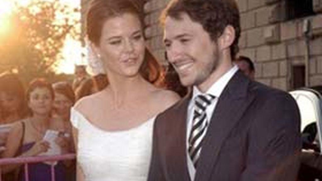Amelia Bono y Manuel Martos el día de su boda.