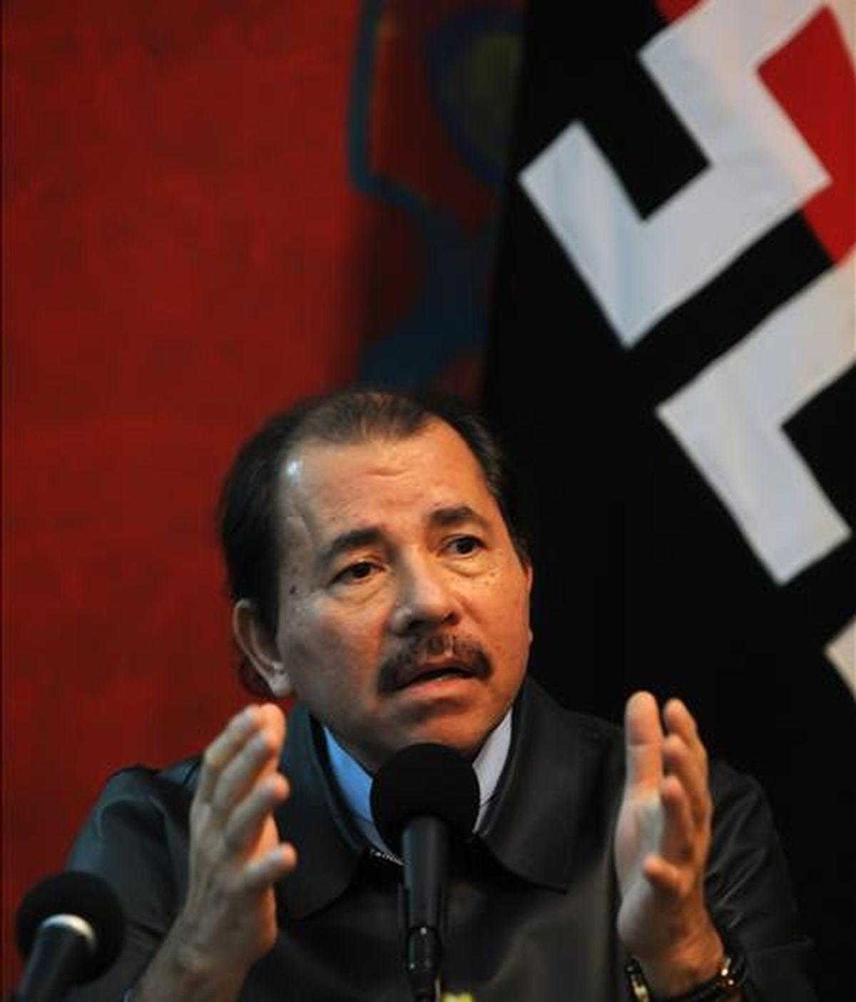 Desde el pasado 21 de octubre, Costa Rica y Nicaragua mantienen un litigio por la soberanía de una porción de territorio fronterizo en el Caribe. En la imagen, el presidente de Nicaragua, Daniel Ortega. EFE/Archivo