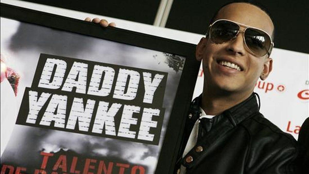 """El artista puertorriqueño Daddy Yankee durante una rueda de prensa en Buenos Aires (Argentina) en la que habló de su película """"Talento de Barrio"""" y adelantó detalles acerca de los próximos recitales que brindará en este país en julio. EFE"""