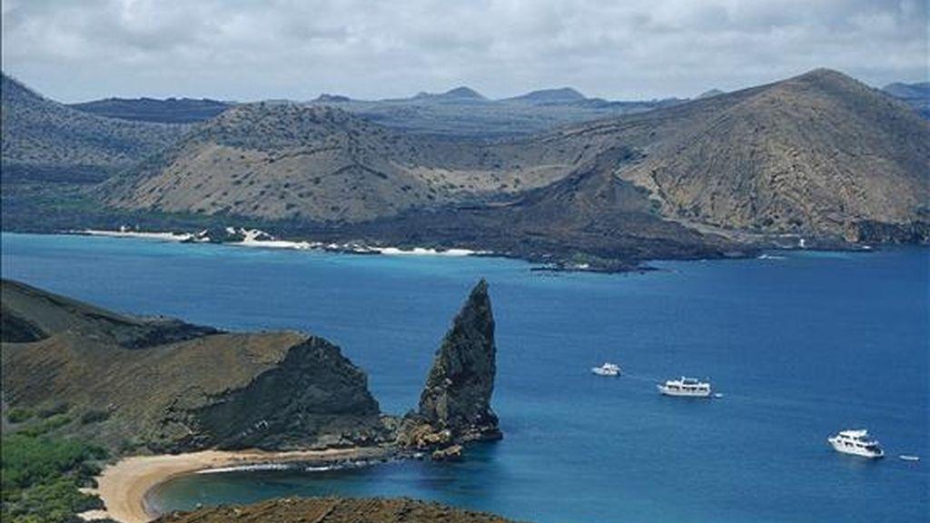 Vista panorámica del archipiélago ecuatoriano de las Galápagos, inscrito en la Lista del Patrimonio Mundial desde 1978. EFE/Archivo