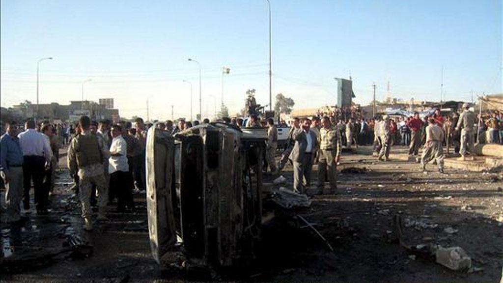 El lugar de un atentado perpetrado en Kirkuk el pasado 1 de abril. EFE/Archivo