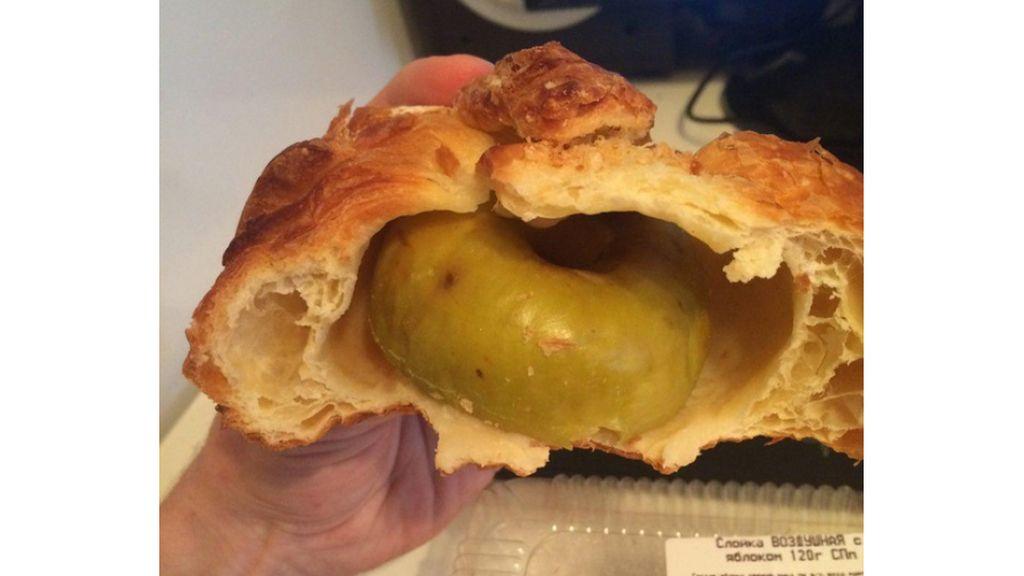 Se nota que es un pastel de manzana