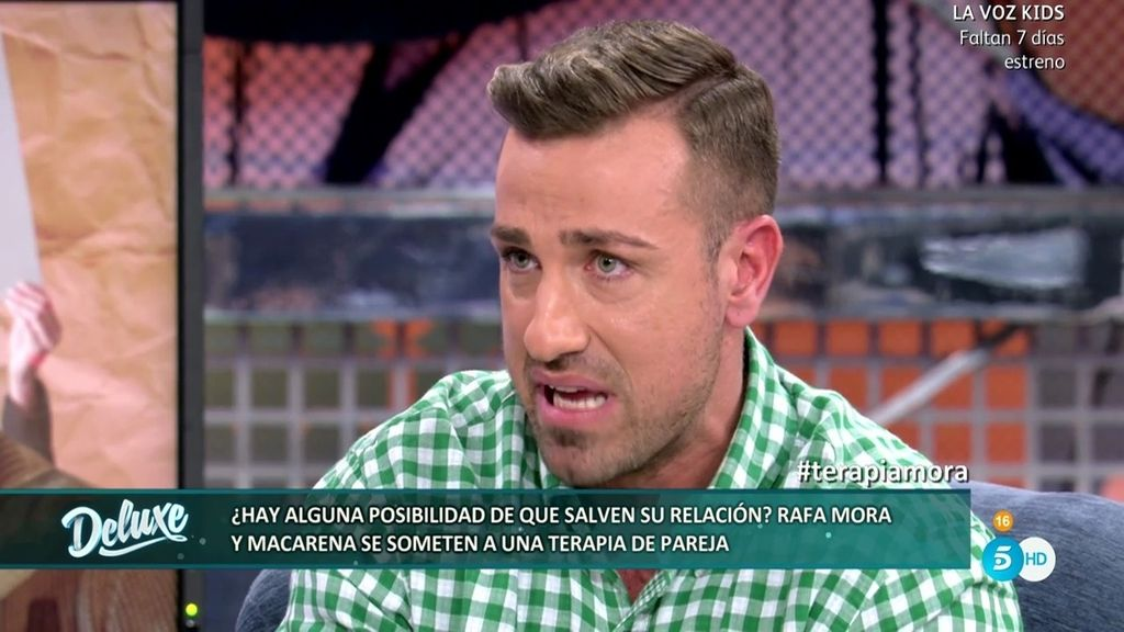 "Rafa Mora sigue dolido: ""No quiero ser para Macarena como un juguete"""