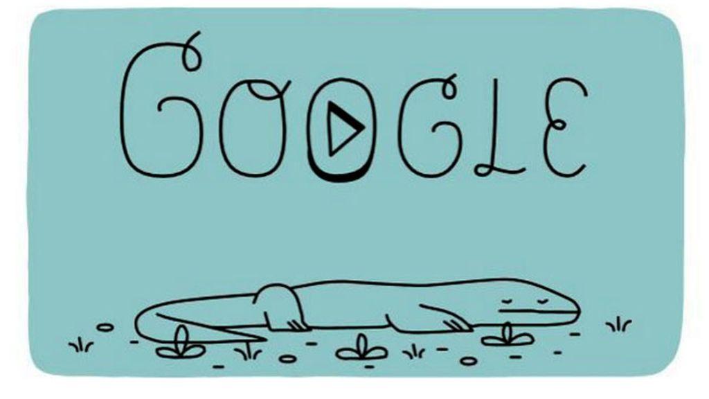 google doodle, doodle parque Komodo, komodo