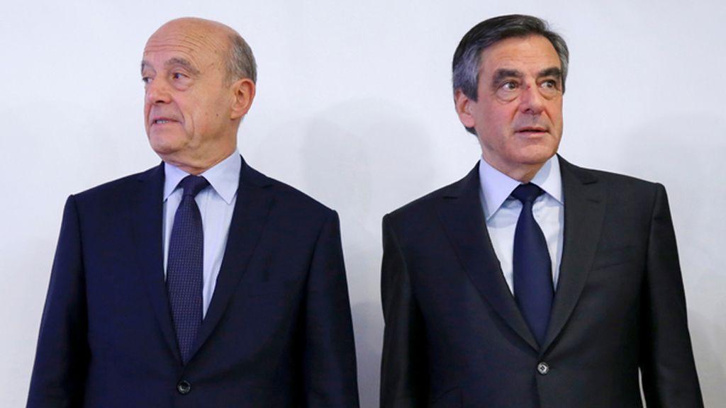 Alain Juppé y François Fillon