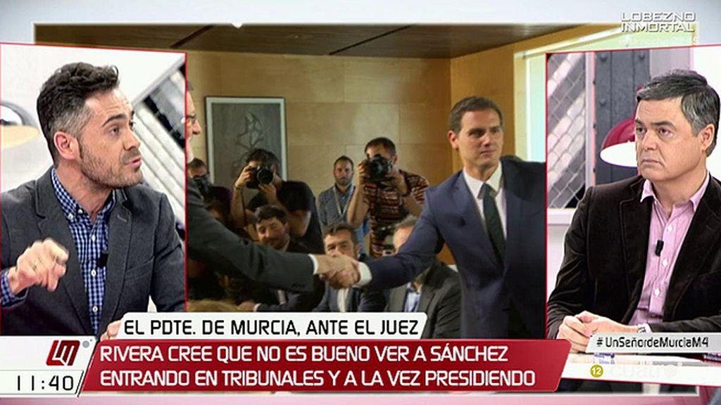 """Carlos Rojas (PP): """"Quien tiene que pedir perdón es el PSOE que ha puesto 80 querellas en Murcia, todas archivadas"""""""