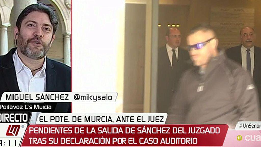 """Miguel Sánchez (C's), tras la declaración de Pedro A. Sánchez: """"Es una vergüenza y un bochorno"""""""
