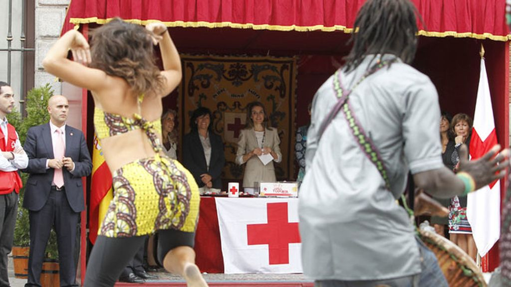 La Princesa de Asturias se hace amiga de unos músicos callejeros