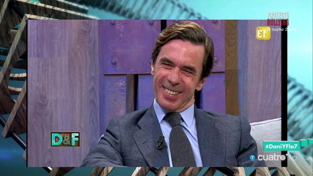 Pablo Iglesias entrevista a Aznar en la coctelera de 'Dani&Flo'