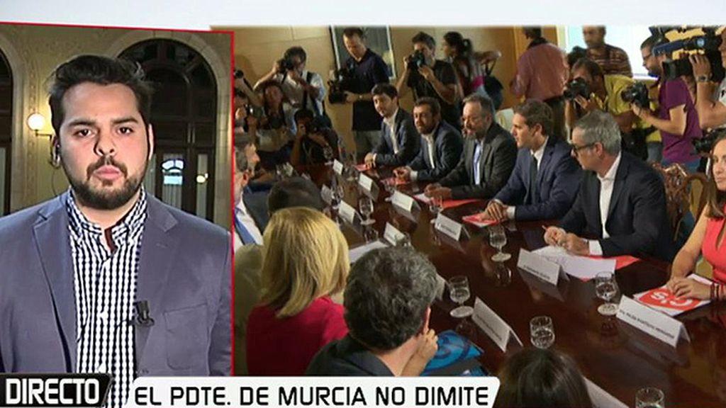 C's en Murcia explorará con el PSOE una moción de censura o nuevas elecciones