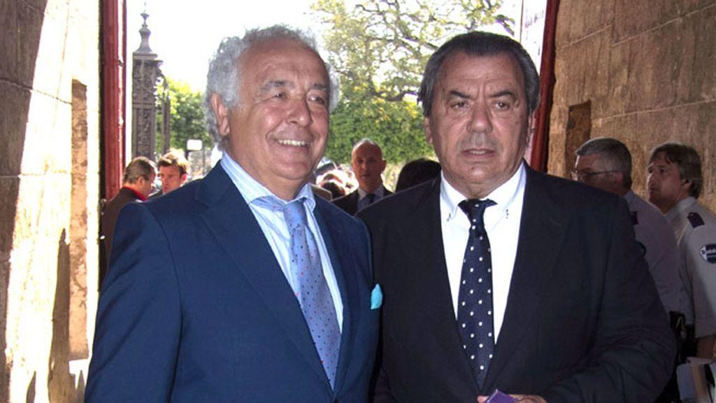 Los cantantes Antonio Romero y Rafael Ruiz del grupo musical 'Los del Río'
