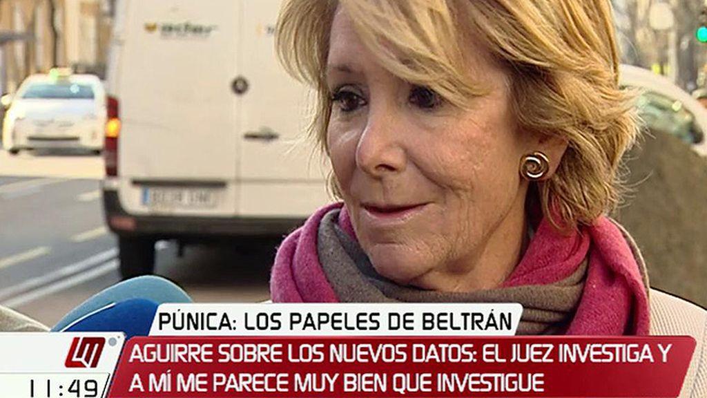 """Esperanza Aguirre: """"Jamás me he llevado un duro de todo esto"""""""