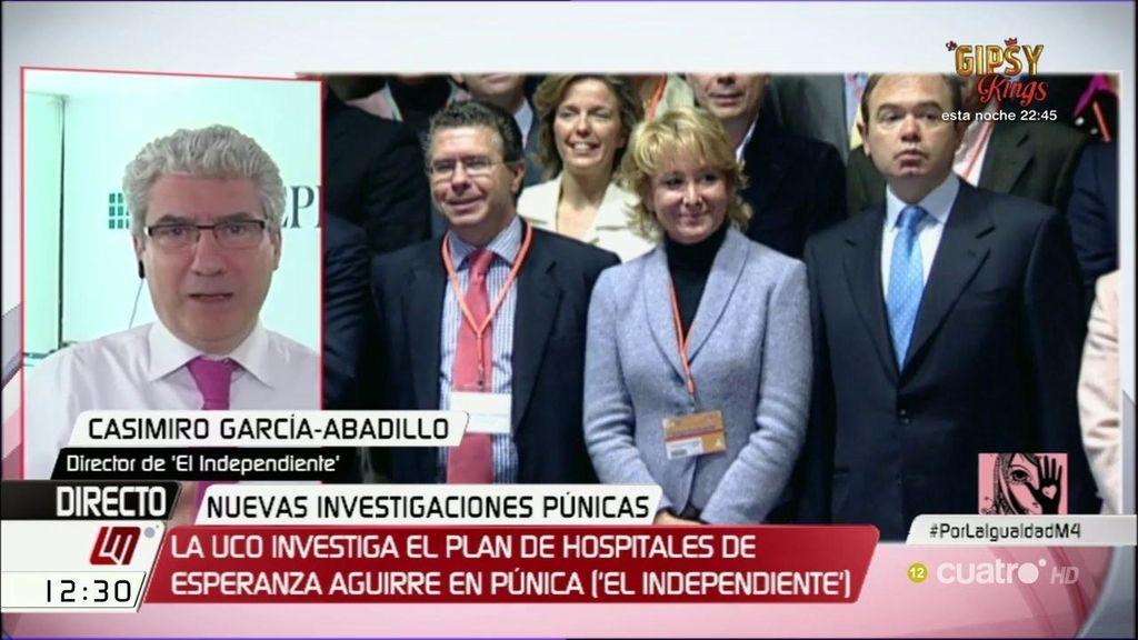 """Casimiro García-Abadillo: """"Aguirre deriva a sus consejeros la responsabilidad de la financiación ilegal"""""""
