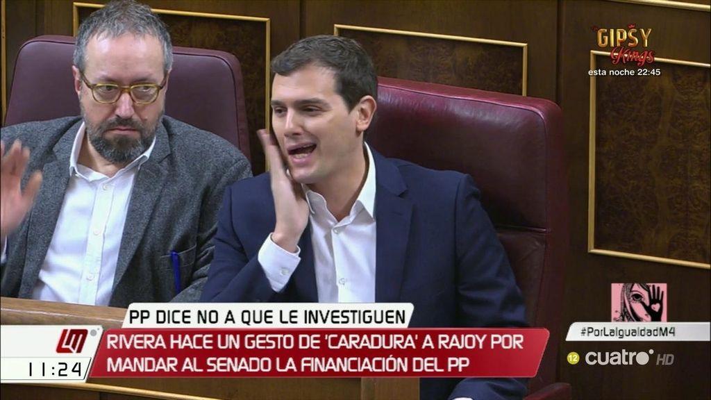 Tensión en el Congreso: Rivera llama caradura a Mariano Rajoy