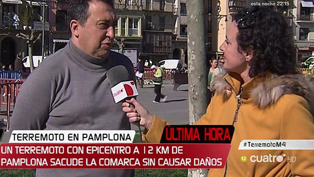 """Manuel, del terremoto en Pamplona: """"Parecía que un camión pegaba contra la fachada"""""""