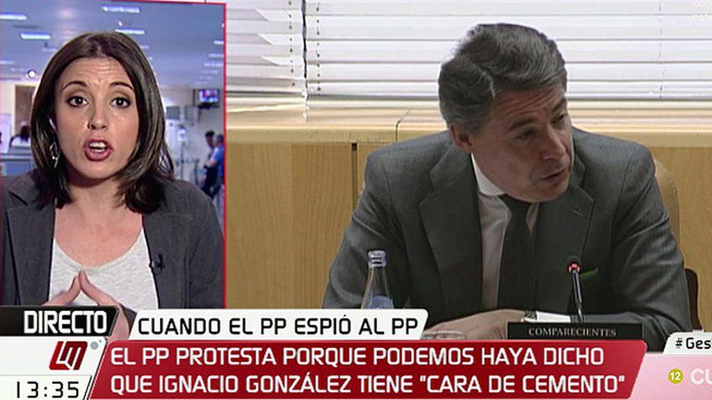 """I. Montero: """"González declara por presunta financiación ilegal y lo que le ofende al señorito es que se le diga cara de cemento"""""""