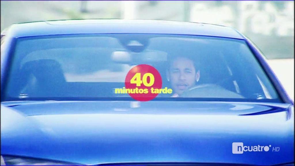 Neymar llegó 40 minutos tarde al entrenamiento del Barça tras la remontada