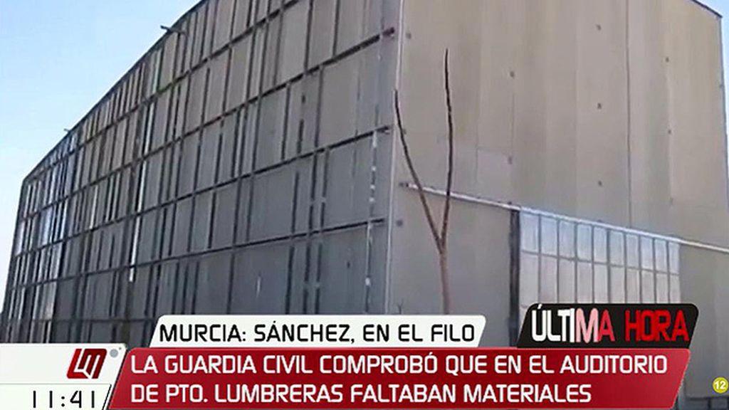 La Guardia Civil certificó que faltan numerosos materiales en el Auditorio de Puerto Lumbreras, según la Cadena Ser