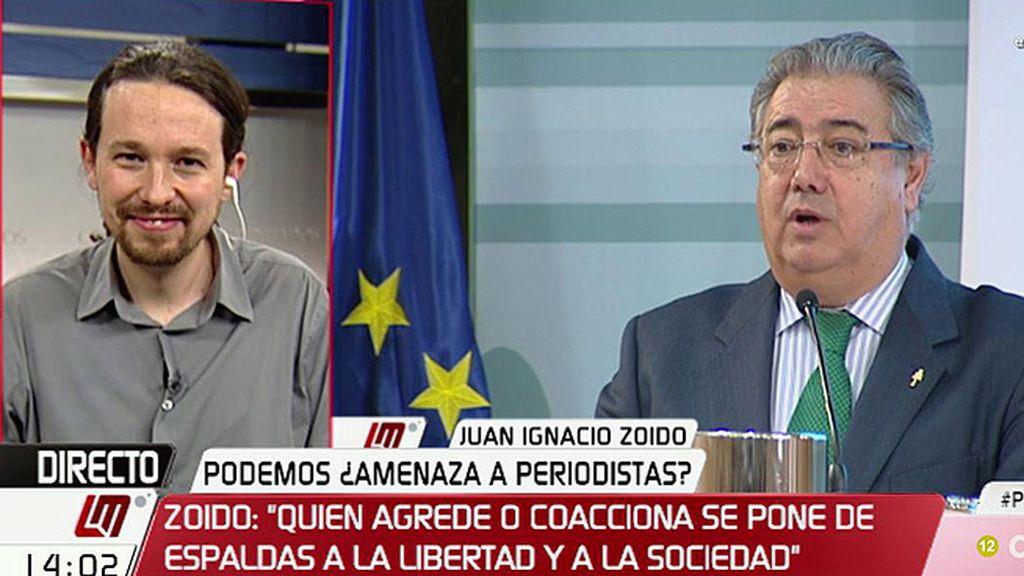 """Iglesias: """"Al ministro Zoido le podríais poner la música del No-Do por detrás"""""""
