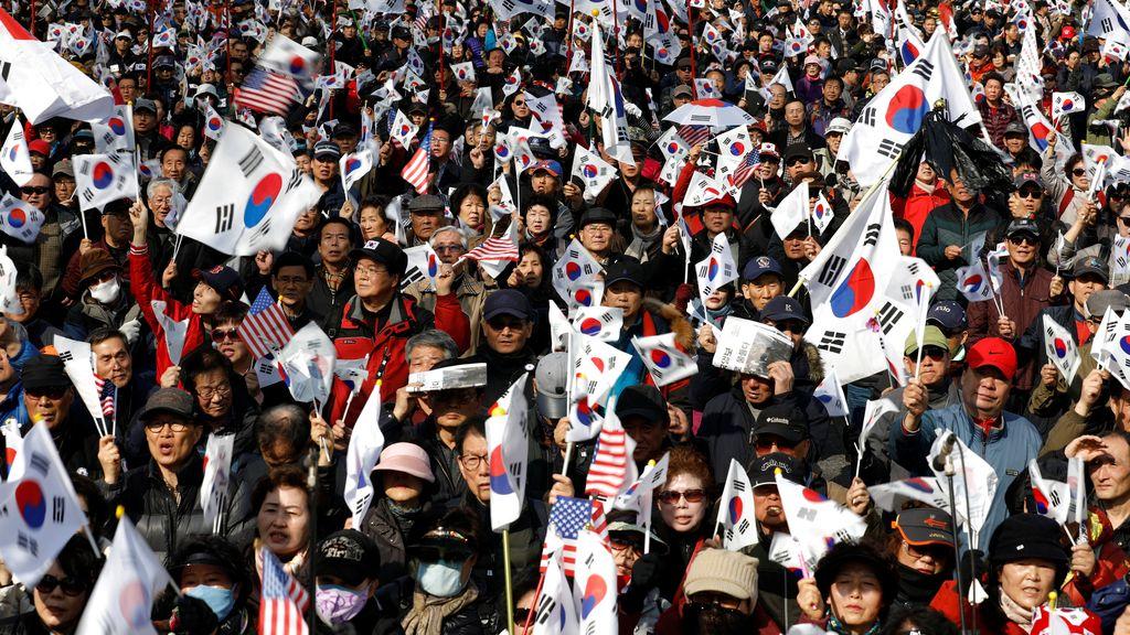 Manifestaciones en Corea del Sur