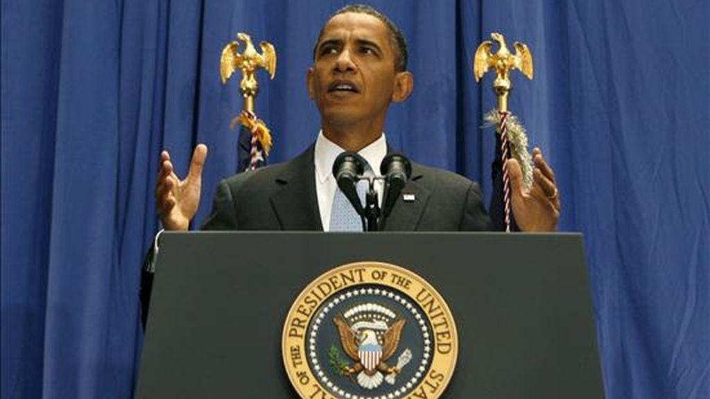 """El presidente estadounidense, Barack Obama, dijo hoy que Israel """"no sorprenderá"""" a EEUU con un ataque a Irán porque los dos países mantienen una """"relación estrecha"""" y tratan de estar coordinados en todo momento sobre esta cuestión. EFE/Archivo"""