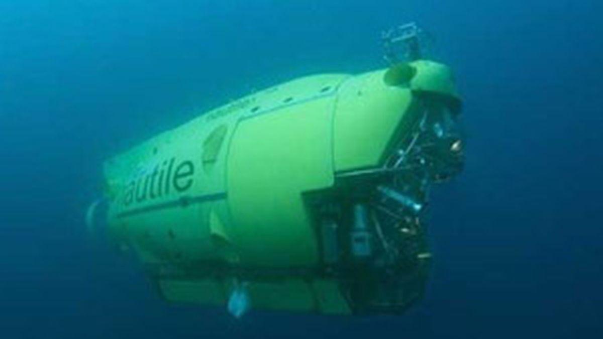 El submarino 'Nautilus' busca los restos del Airbus en el Océano Atlántico. Foto: AP.