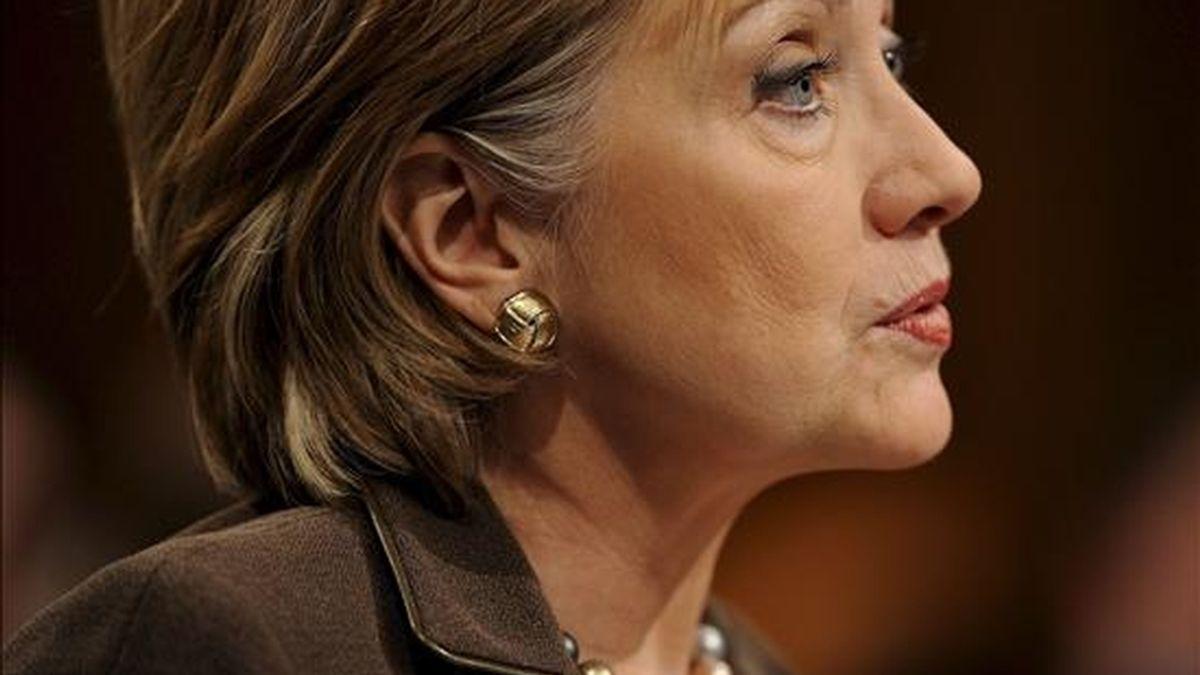 En la imagen, la secretaria de Estado de EE.UU., Hillary Clinton. EFE/Archivo